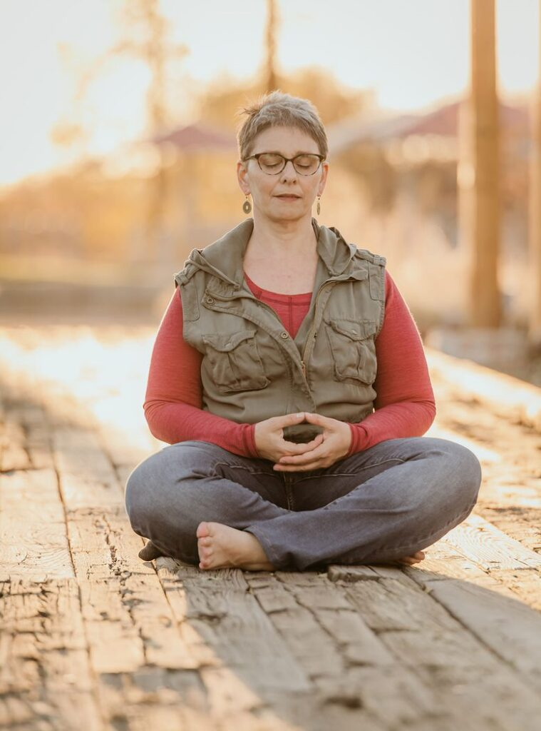 Emilah in Meditative State, spiritual life coach